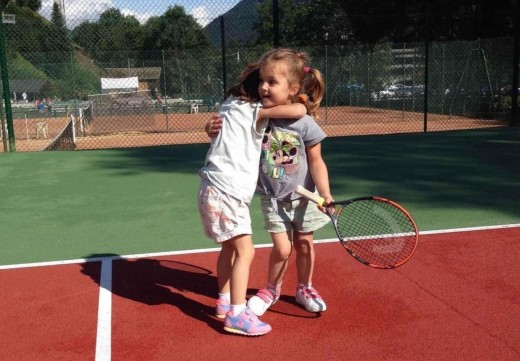 Morzine mini tennis course...