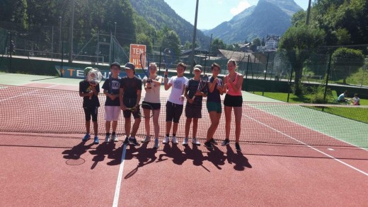 Morzine teens tennis course...
