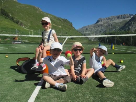 Val d'Isère mini tennis...
