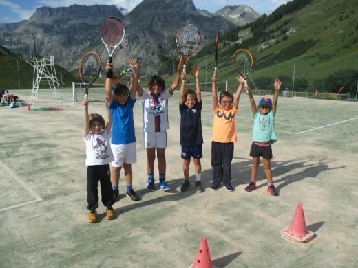Val d'Isère children course...