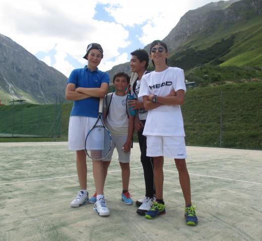 Val d'Isère teens tennis...