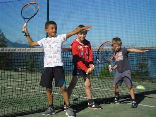 Les Arcs children course...