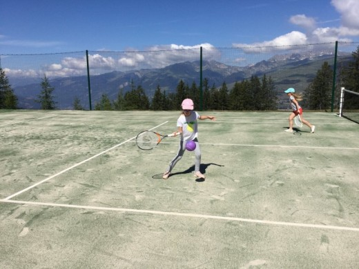 Les Arcs children course...